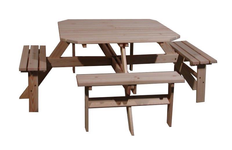 dřevěný zahradní nábytek Piknik 02 kwadrat trim