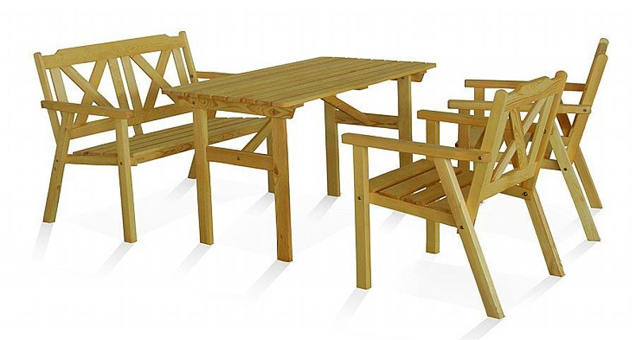 dřevěný zahradní nábytek Kopenhaga trim