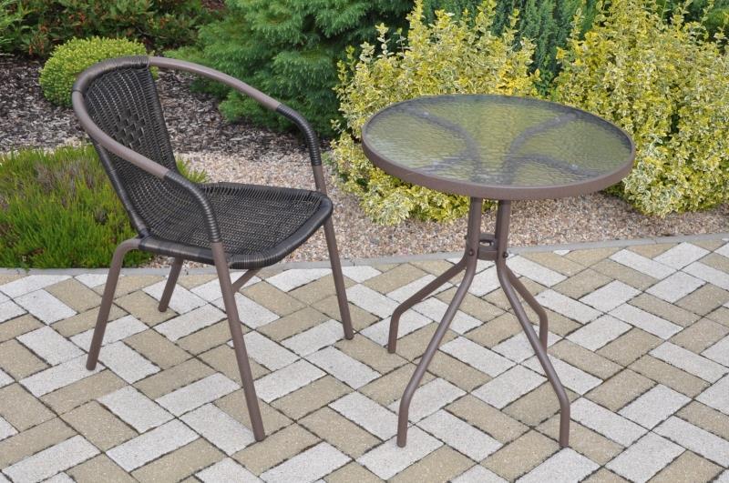 Zahradní nábytek kov + umělý ratan 1+1 axi