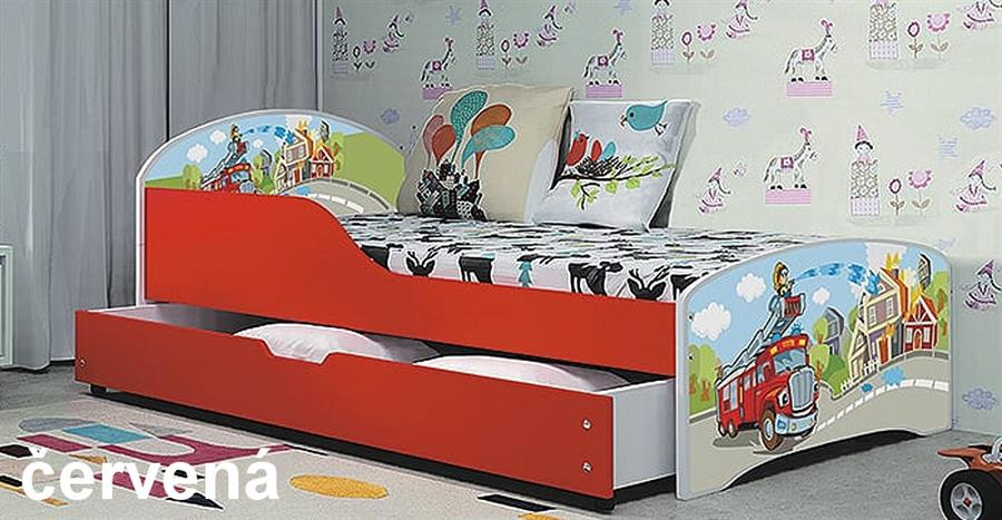dětská postel Tobi červená bogdmar
