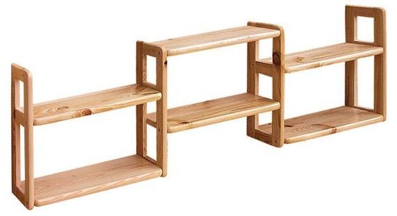 dřevěná závěsná polička z masivního dřeva borovice drewfilip 17