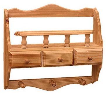dřevěná závěsná polička z masivního dřeva borovice drewfilip 38