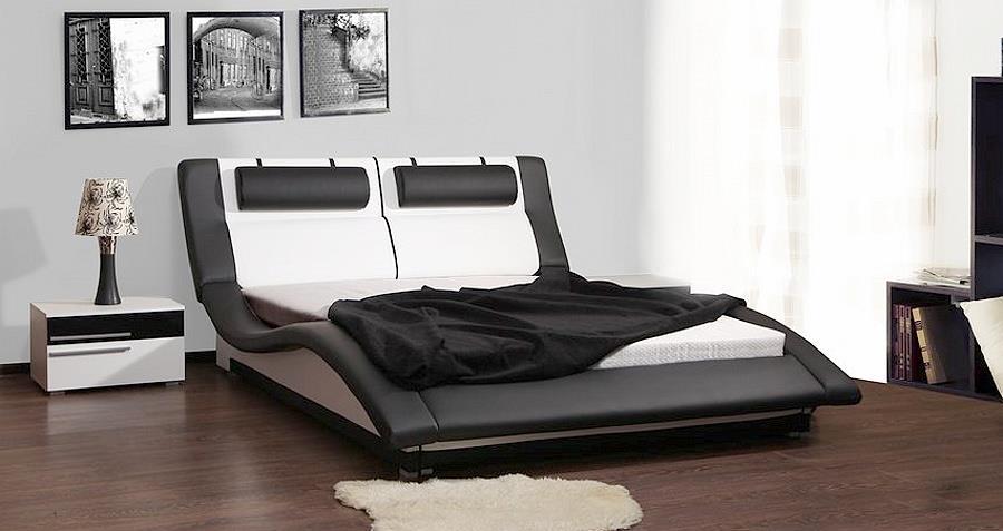 dvojlůžková čalouněná postel Domino 200 chojm