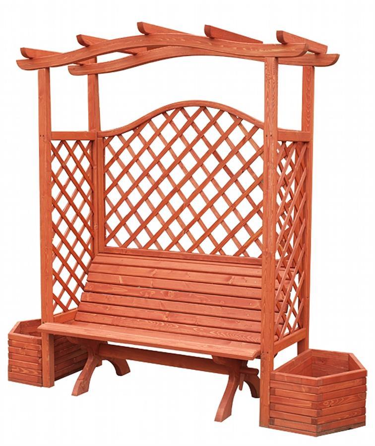 dřevěné prvky na dřevěná zahradní pergola, zahradní dekorace PE5 jandr