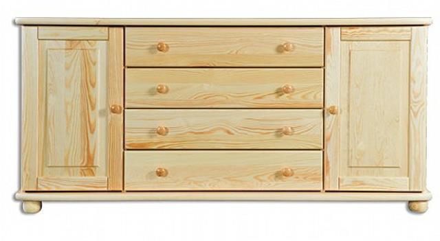 dřevěná komoda, prádelník z masivního dřeva borovice KD163 pacyg