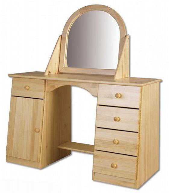 dřevěná toaletka se zrcadlem z masivního dřeva borovice LT107 pacyg