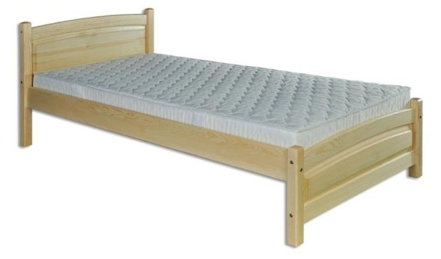 dřevěná jednolůžková postel z masivního dřeva LK125