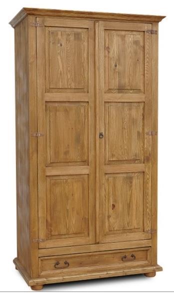 dřevěná stylová dvojí dvířková šatní skříň VIT08 d2 euromeb