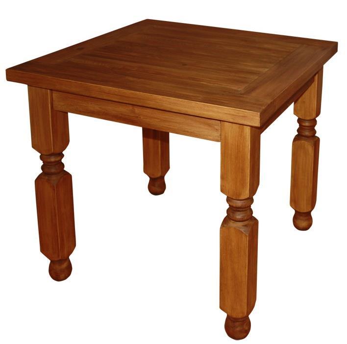 dřevěný rustikální stylový jídelní stůl z masivního dřeva borovice Mexicana MES03 frézované nohy euromeb
