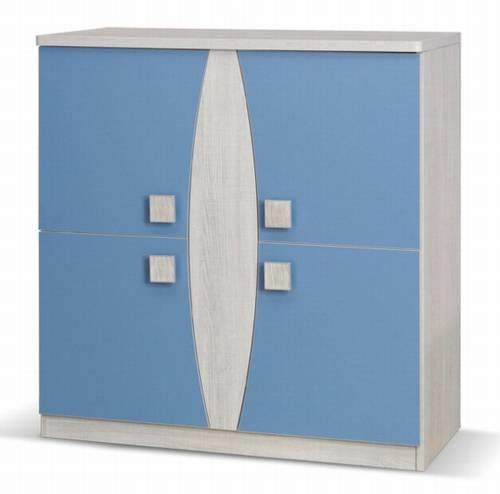 moderní komoda z kolekce Tenus T K4D modrá gib