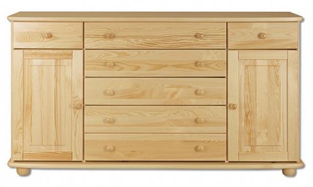 dřevěná komoda, prádelník z masivního dřeva borovice KD150 pacyg