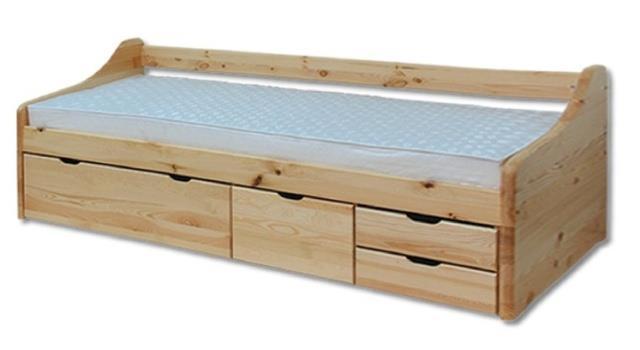 dětská dřevěná jednolůžková postel z masivního dřeva LK131