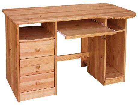dřevěný psací stůl PC stolek z masivního dřeva drewfilip 3