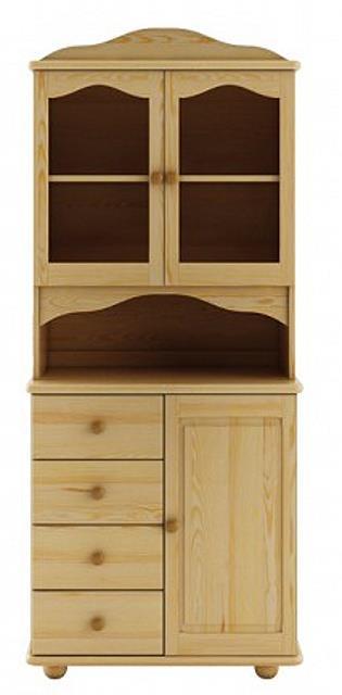 dřevěný kredenc, příborník z masivního dřeva borovice KW104 pacyg