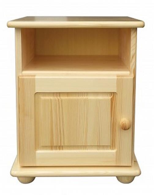 dřevěný noční stolek z masivního dřeva borovice SN109 pacyg