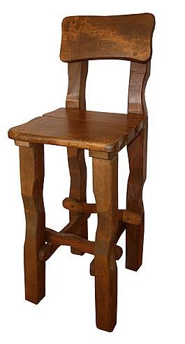 dřevěná barová jídelní židle z masivního dřeva euromeb 5
