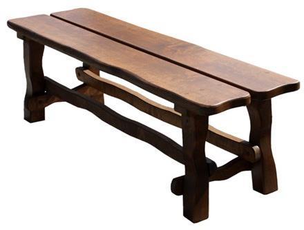 dřevěná jídelní zahradní lavice z masivního dřeva euromeb 4a