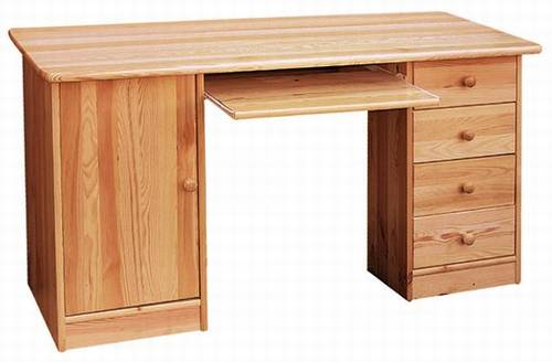 dřevěný psací stůl PC stolek z masivního dřeva drewfilip 2