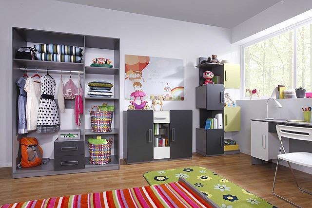 moderní dětský pokoj, studentský pokoj  z dřevotřísky Lido 9 gib