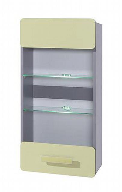 moderní závěsna vitrína z DTD kolekce Lido L SZ WISZ gib