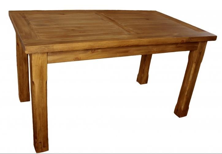 dřevěný rustikální stylový jídelní stůl z masivního dřeva borovice Mexicana MES03 euromeb