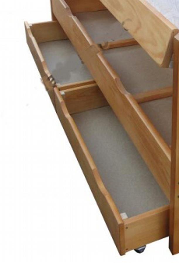 dřevěný úložný prostor, 2x šuple pod postel 80x200 cm chalup