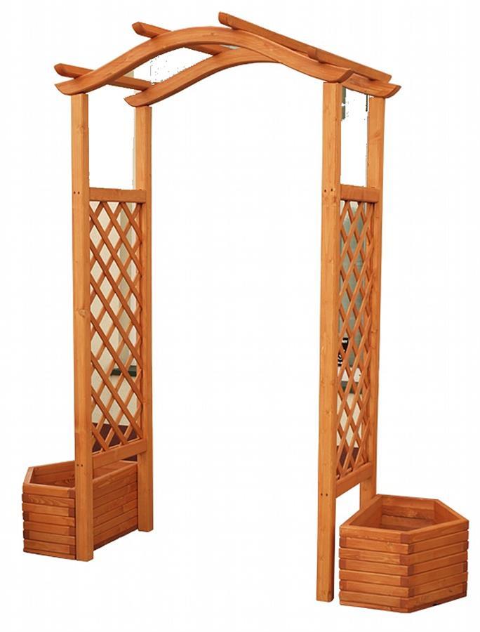 dřevěné prvky na dřevěná zahradní pergola, zahradní dekorace PE7 jandr