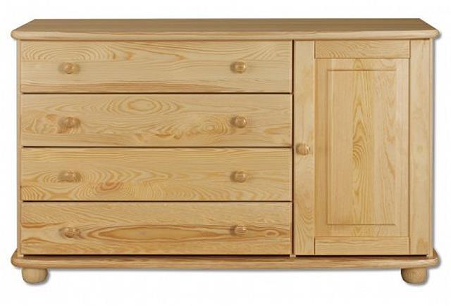 dřevěná komoda, prádelník z masivního dřeva borovice KD148 pacyg