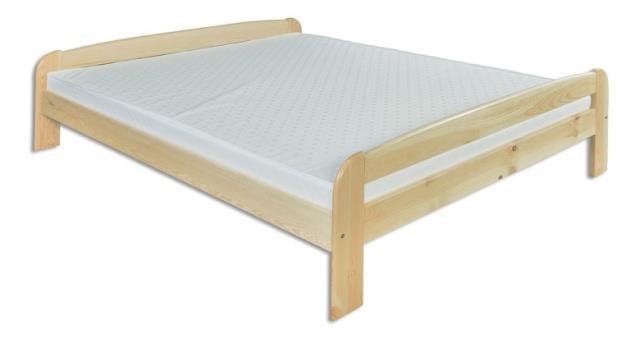 dřevěná dvojlůžková postel z masivního dřeva LK108