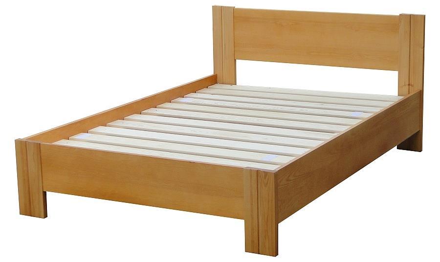 dřevěná jednolůžková postel z masivního dřeva Etiuda chalup