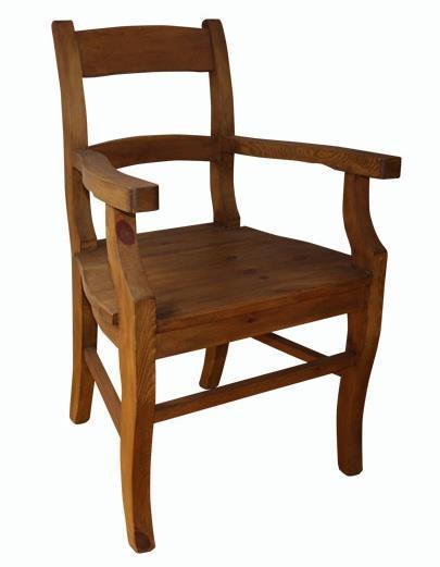dřevěná rustikální stylová jídelní židle z masivního dřeva borovice Mexicana D20 euromeb