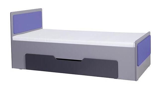 moderní jednolůžková postel z dřevotřísky Lido L Lozko gib