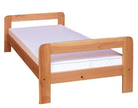 dřevěná dvojlůžková manželská postel z masivního dřeva drewfilip D1