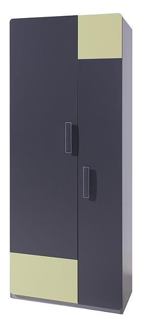moderní šatní skříň z dřevotřísky Lido LSZ2D gib
