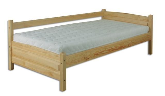 dřevěná jednolůžková postel z masivního dřeva LK132