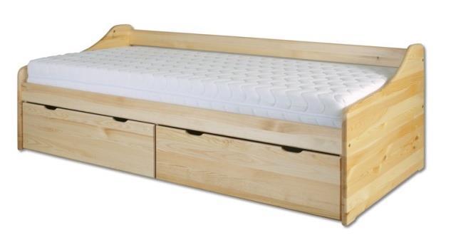dřevěná jednolůžková postel z masivního dřeva LK130