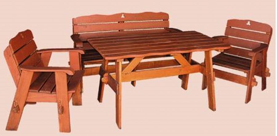 dřevěný zahradní nábytek Jedrzej 1+1+2 drewfilip 26