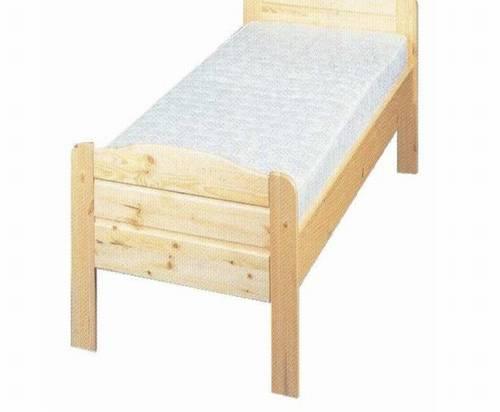 dřevěná jednolůžková postel z masivního dřeva Sedan chalup