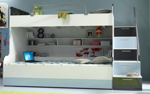 moderní patrová postel z dřevotřísky Raj karol