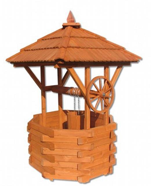 dřevěná zahradní dekorační studna MO150 pacyg