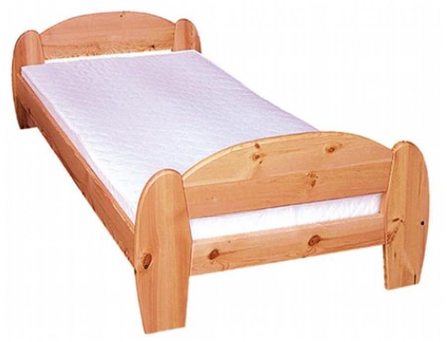 dřevěná jednolůžková postel Gina z masivního dřeva drewfilip 5