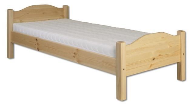 dřevěná jednolůžková postel z masivního dřeva LK128