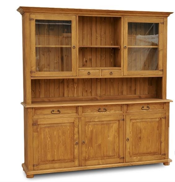 dřevěný kredenc stylový z masivního dřeva borovice