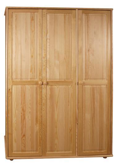 dřevěná šatní skříň trojí dvířková z masivního dřeva borovice drewfilip 8 malá