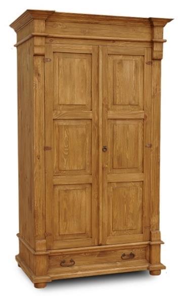 dřevěná stylová dvojí dvířková šatní skříň D10d2 euromeb