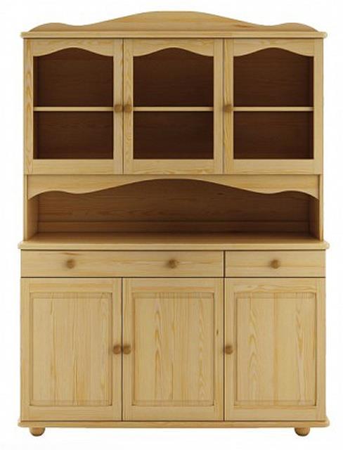 dřevěný kredenc, příborník z masivního dřeva borovice KW101 pacyg