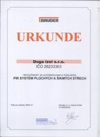 Certifikát Bauder