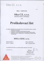 Proškolovací list - SIKA