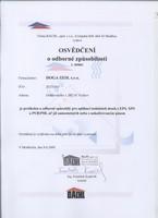 Osvědčení o odborné způsobilosti - BACHL