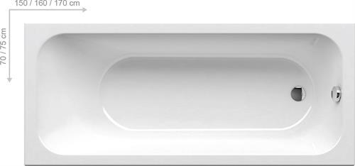 Vana Ravak Chrome 160x70